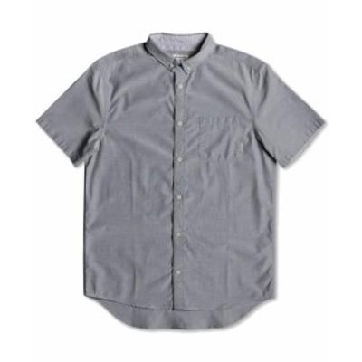 Quiksilver クイックシルバー ファッション アウター Quiksilver Mens Shirt Gray Size 2XL Front Pocket Modern Fit Button Down