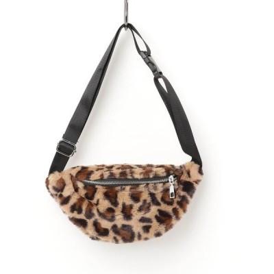 Leopard Fur West bag / レオパード ファー ウエストバッグ