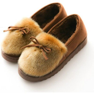[AMBLY] ルームシューズ レディース もこもこ あったか ファー モカシ 防寒 可愛い 暖かい ローヒール スニーカー 室内履き 靴 秋冬靴