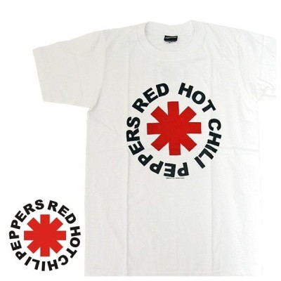 Red Hot Chili Peppers レッド・ホット・チリ・ペッパーズ BA-0013-WH Red Hot Chili Peppers BAND LOGO TEE バンド半袖Tシャツ(メール便対応)