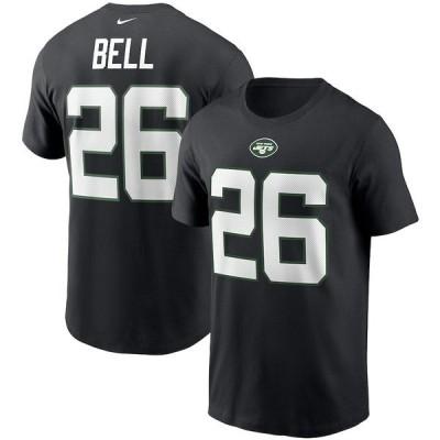 ナイキ メンズ Tシャツ トップス Le'Veon Bell New York Jets Nike Name & Number T-Shirt