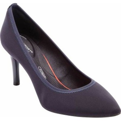 ロックポート レディース ヒール シューズ Women's Rockport Total Motion Pointy Toe Gore Pump Navy Elastic