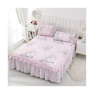 コットン防塵ベッドはワンピースベッドスカートカバーシングルレイヤーシートカバー (Color : C Size : 200X220CM)