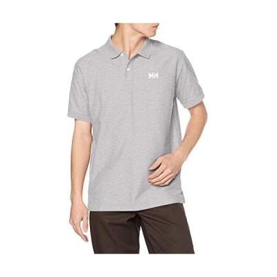 [ヘリーハンセン] ポロシャツ ショートスリーブ HHロゴポロ メンズ (ミックスグレー XL)