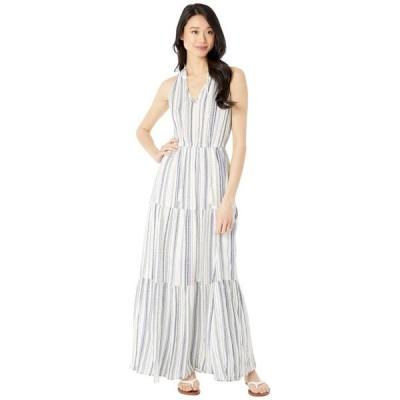 アメリカンローズ レディース ワンピース トップス Britta Keyhole Striped Maxi Dress