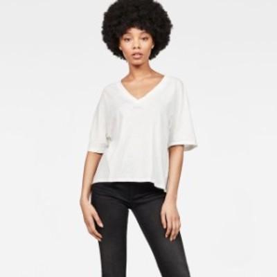 gstar ジースター ファッション 女性用ウェア Tシャツ gstar collyde-small-art-loose-v-neck