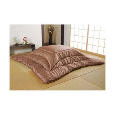 こたつ布団 洗える 正方形 国産  掛け単品 高級感 ジャガード 銅色 約205×205cm