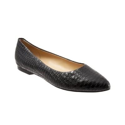 トロッターズ サンダル シューズ レディース Estee Ballet Flat Black Croc