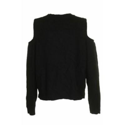 lucky ラッキー ファッション トップス Lucky Brand Black Long-Sleeve Cold-Shoulder Split Hem Sweater XL