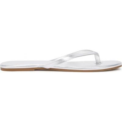 メリッサ オダバッシュ Melissa Odabash レディース サンダル・ミュール シューズ・靴 Silver leather sandals Silver