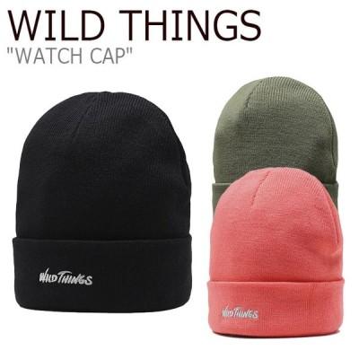 ワイルド シングス ニット帽 WILD THINGS WATCH CAP ウォッチ キャップ BLACK ブラック OLIVE オリーブ VERMILLION ヴァーミリオン WTA192XHT07/08/10 ACC