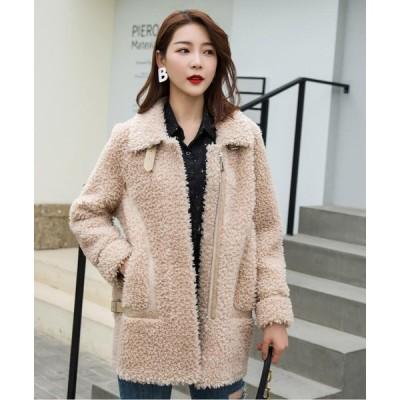 冬物 レディース 防寒 毛皮コート おしゃれ 上着 ジャケット アウター 暖かい 上質 ショートジャケット 就活 女性 オフィス OL 通勤 フェイクファー