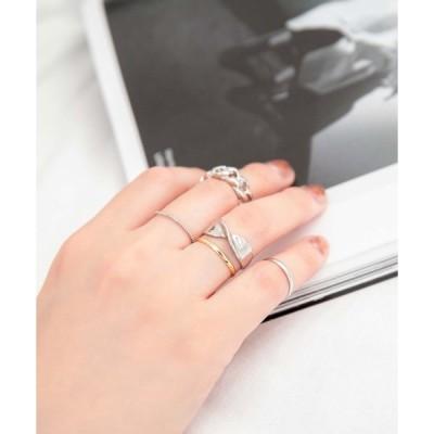 指輪 チェーンモチーフ5リングセット