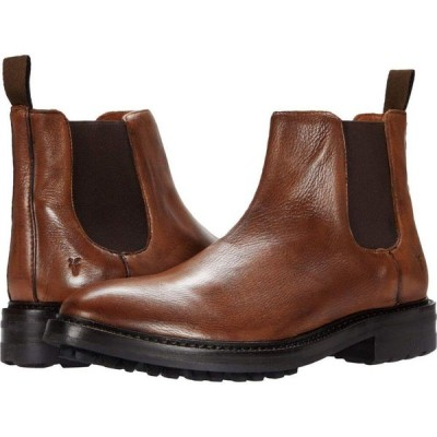フライ Frye メンズ ブーツ シューズ・靴 Greyson Chelsea Cognac Deer Skin Leather