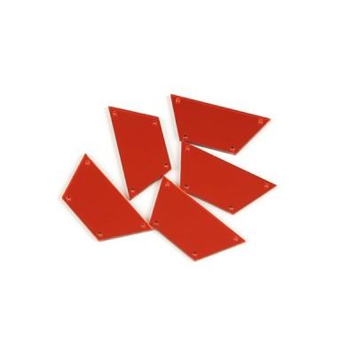 パッチミラー中カラー2[5個入](7H.赤)ミラー 鏡 反射 三角 台形 四角 変形 パーツ キラキラ ゴージャス コンサート ツアー ライブ 衣装 コスプレ ドレス ダンス