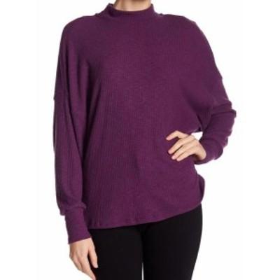 ファッション トップス Harlowe & Graham NEW Purple Mock Neck Women Large L Dolman Sweater