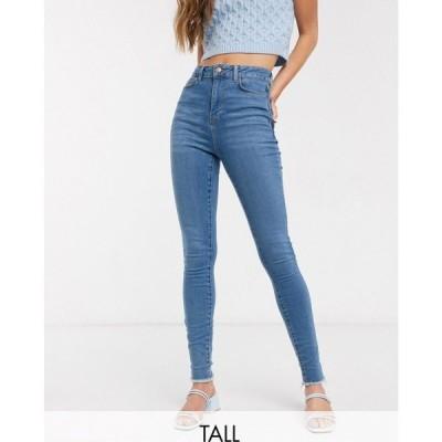 ニュールック New Look Tall レディース ジーンズ・デニム ボトムス・パンツ lift & shape skinny jean in mid blue ブルー