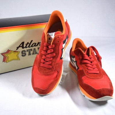 ATLANTIC STARS / アトランティック スターズ  スニーカー/アンタレス/レッド×オレンジ/サイズ40  メンズファッション 中古