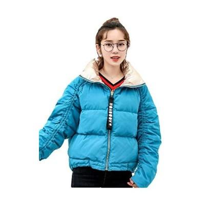 [サ二ー] レディース フードなし 秋冬 ダウンジャケット 中綿コート 暖かい ショート丈 カラーフル 中綿アウ