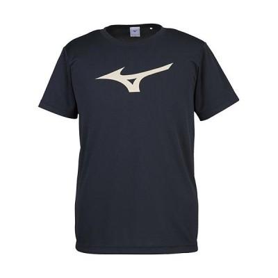 ミズノ(MIZUNO) スポーツウェア メンズ レディース BS Tシャツ ビッグロゴ ブラック×ゴールド 32JA815590 半袖 トップス
