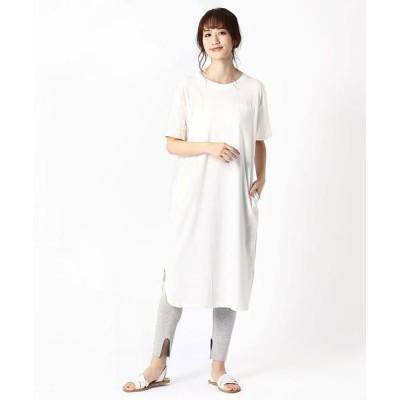 COMME CA ISM/コムサイズム 《コットン》デニム Tシャツ ワンピース ホワイト S