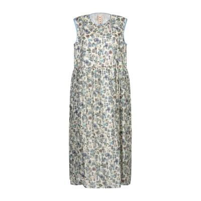マルニ MARNI 7分丈ワンピース・ドレス アイボリー 40 コットン 100% 7分丈ワンピース・ドレス