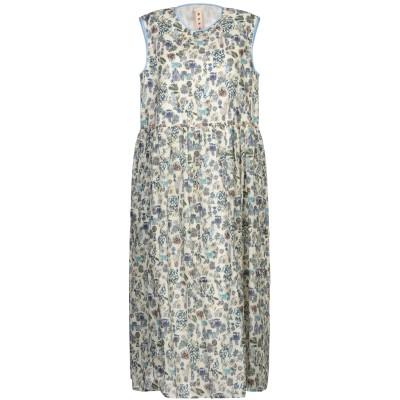 マルニ MARNI 7分丈ワンピース・ドレス アイボリー 38 コットン 100% 7分丈ワンピース・ドレス