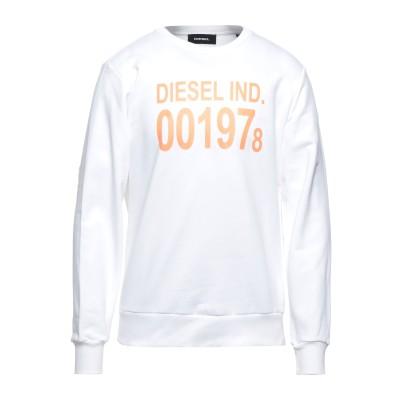 ディーゼル DIESEL スウェットシャツ ホワイト XS コットン 100% / ポリウレタン スウェットシャツ