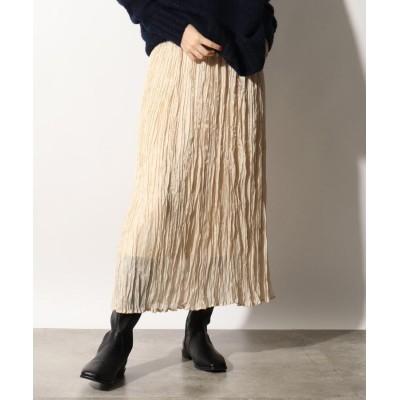 OZOC(オゾック) 光沢プリーツスカート