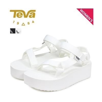 (Teva/テバ)Teva テバ サンダル フラットフォーム ユニバーサル レディース 厚底 W FLATFORM UNIVERSAL スポーツサンダル ビーチサンダル ブラック/レディース ホワイト