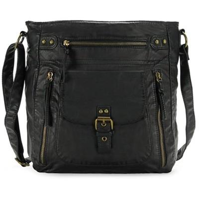 Scarleton ソフト Penta ポケット Crossbody Bag H200501 - ブラック(海外取寄せ品)