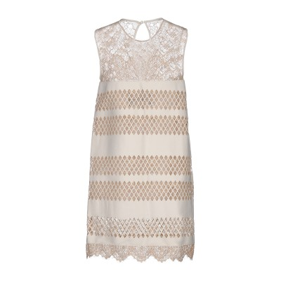 ジャストカヴァリ JUST CAVALLI ミニワンピース&ドレス アイボリー 42 羊類革 100% ミニワンピース&ドレス