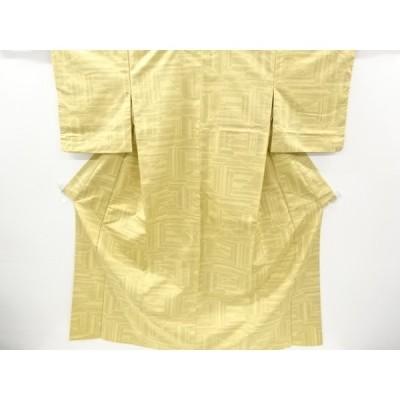 宗sou 抽象模様織り出し十日町紬着物【リサイクル】【着】