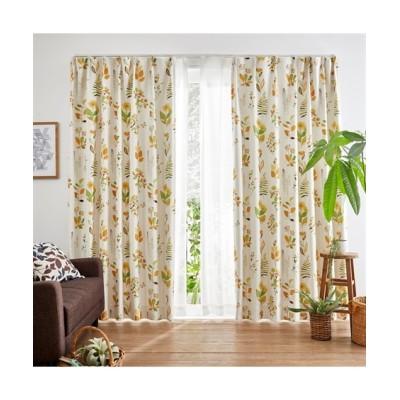 ヒダがキレイなボタニカルリーフ柄遮光カーテン ドレープカーテン(遮光あり・なし) Curtains, blackout curtains, thermal curtains, Drape(ニッセン、nissen)