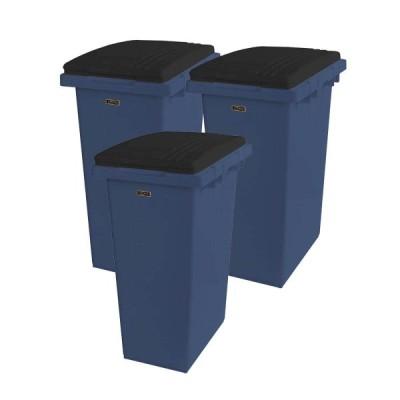 天馬 ゴミ箱 イーラボホーム つなげて分別用ペール45L ダークブルー 3個セット【当店限定】