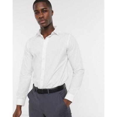 ボロンガロトレバー メンズ シャツ トップス Bolongaro Trevor slim fit classic shirt White