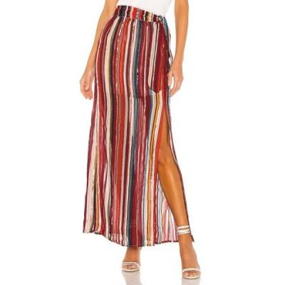 ハウスオブハーロウ1960 House of Harlow 1960 レディース ロング・マキシ丈スカート スカート x REVOLVE Mya Maxi Skirt Red Multi Stripe