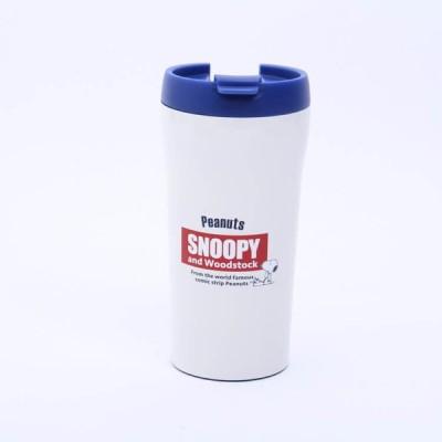 マグボトル スヌーピー 超軽量コンパクトコーヒーマグ スヌーピー レトロラベル/SMV4 ステンレスマグボトル 水筒 保温 保冷 ステンマグ コンビニコーヒー