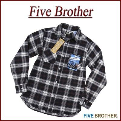 FIVE BROTHER ファイブブラザー チェック 長袖 ヘビーネルシャツ 152060
