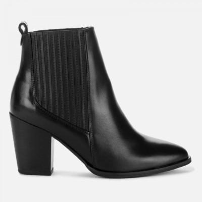 クラークス Clarks レディース ブーツ ショートブーツ シューズ・靴 West Lo Leather Heeled Ankle Boots - Black Black