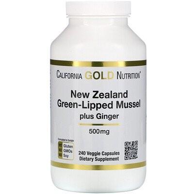 ニュージーランド、グリーンリップムールプラスジンジャー、ジョイントヘルスフォーミュラ、500 mg、植物性カプセル240粒
