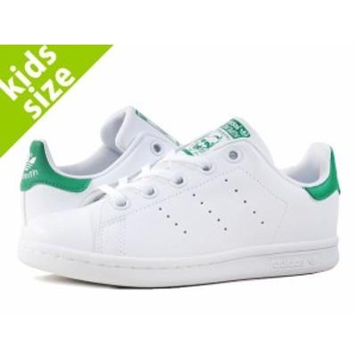 【キッズサイズ】【17cm-21.5cm】 adidas STAN SMITH EL C 【adidas Originals】 アディダス スタンスミス EL C RUNNING WHITE/GREEN