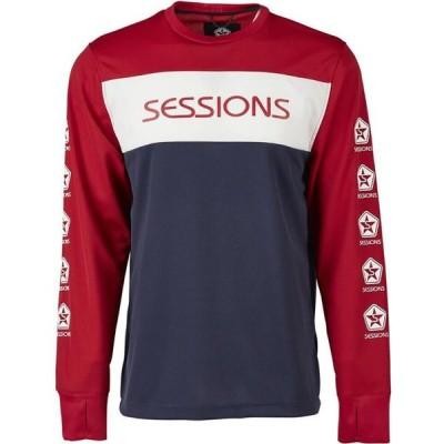 セッションズ Sessions メンズ トップス roost riding jersey l/s shirt Deep Red