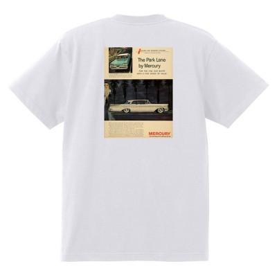 アドバタイジング マーキュリーTシャツ 白 1211 黒地へ変更可 1958 パークレーン モントレー モントクレア ホットロッド レトロ