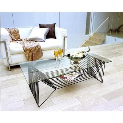 クリスタル センターテーブル ガラス 黒 幅120cm ガラステーブル ローテーブル リビングテーブル コーヒーテーブル オフィステーブル 応接テーブル ミーティング