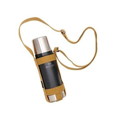 asobito(アソビト) ボトルホルダー Sサイズ ストラップ式 水筒 スタンレー 収納 長さ調節可能 キャメル キャンプ ab-020CM