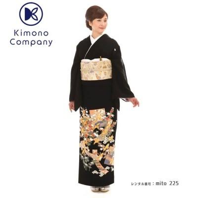 留袖レンタル mito_225 F-27609 錦繍の美 色紙に羽ばたく新刺繍の鶴