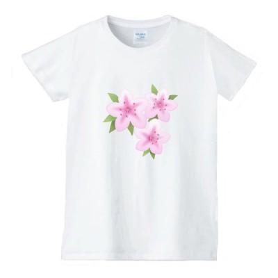花 フラワー Tシャツ 白 レディース 女性用 jfw35