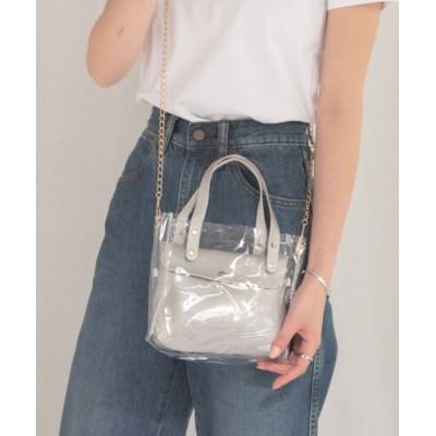 wears / 3way ゼリーバッグ / クリアショルダーバッグインバッグ WOMEN バッグ > ハンドバッグ