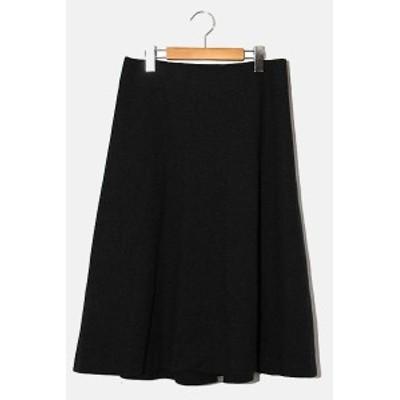 【中古】HIROKO KOSHINO ヒロココシノ ウール フレアロングスカート 38 GRAY グレー /◆ レディース